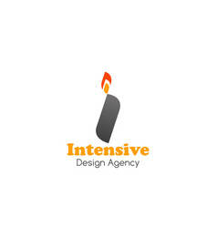 badge for design agency vector image