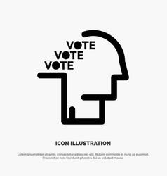 Ballot election poll referendum speech solid vector