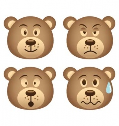 bear expression vector image vector image