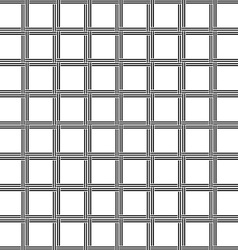 Black and white seamless line pattern vector image