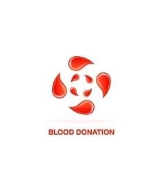blood donation logo vector image