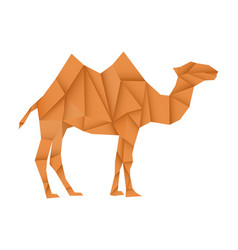 brown camel polygonal vector image