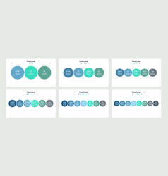 business infographics timeline with 3 4 5 6 7 vector image
