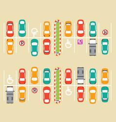 Car park parking lot vector