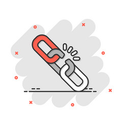 Chain icon in comic style network hyperlink vector