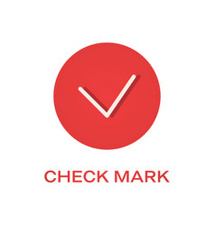 check round mark flat icon tick symbol vector image