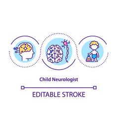 Child neurologist concept icon vector