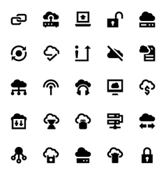 Cloud Data Technology Icons 3 vector image