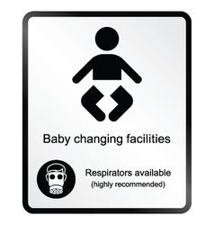 Comical bachanging facilities information sign vector