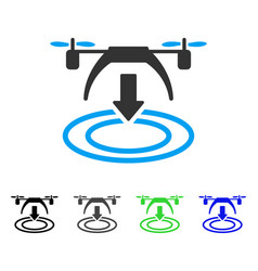 Copter landing flat icon vector