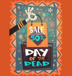 day dead traditional sale banner holiday vector image