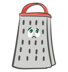 Emoji sad grater or color vector