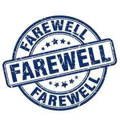 Farewell blue grunge stamp vector