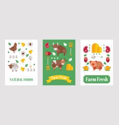 farm product banner set vector image