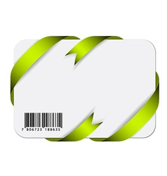 Festive card with barcode vector