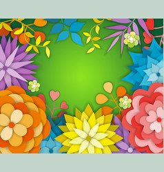 Floral spring graphic design - with colorful vector