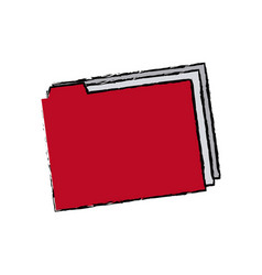 Folder file document paper archive office supply vector