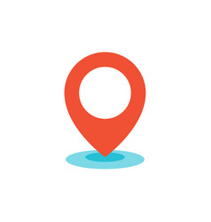Geo location pin icon flat vector