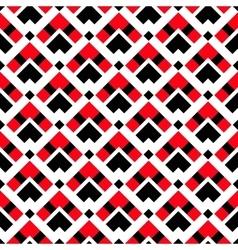 Geometric white red black ethnic pattern vector