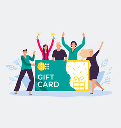 Gift card voucher gift certificate discount vector
