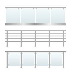 Glass railing vector