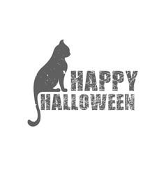 Happy halloween logotype vector