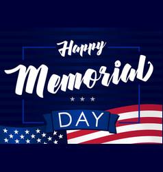 Happy memorial day may 31 dark banner vector
