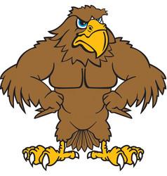 Hawk logo mascot vector
