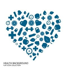 Healthy lifestyle seamless blue background from vector image