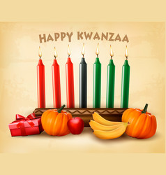 kwanzaa holiday background with old paper vector image