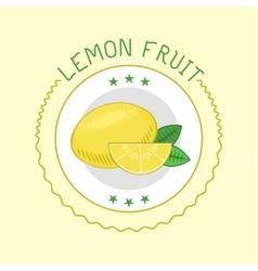 Lemon badge vector image