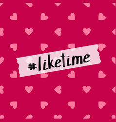 like time background for social media vector image