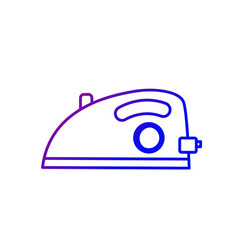 line iron domestic object and housework vector image