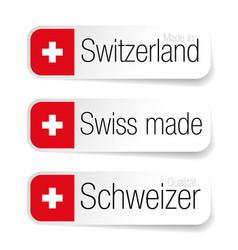 Made in switzerland - swiss label vector