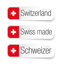 made in switzerland - swiss made label vector image