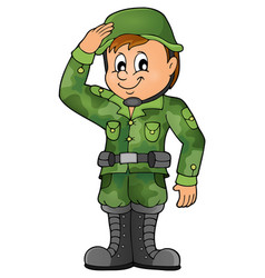 Male soldier theme image 1 vector