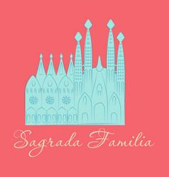 May 15 2014 a of la sagrada familia the cathedral vector
