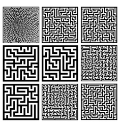 medium mazes set vector image