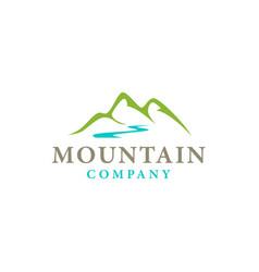 minimalist mountain logo design inspiration vector image