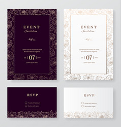 Modern minimalist event and wedding invitation vector