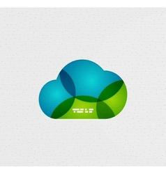 Modern paper design cloud design vector image
