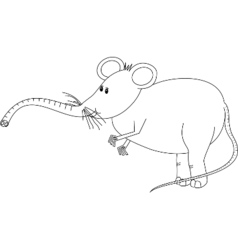 Mouzifant line-art vector