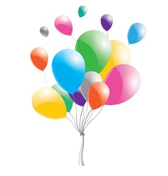 Multicolored balloons on a white background vector