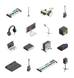 Music Studio Elements Set vector image