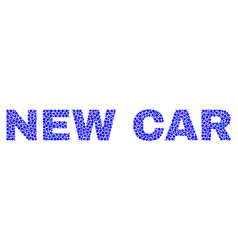 New car text in dot style vector