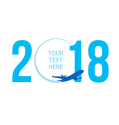 New year concept - airplane vector