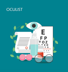 oculist concept flat style design vector image