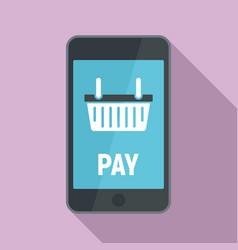 online smartphone pay icon flat style vector image