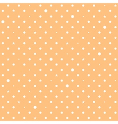 Orange cream star polka dots background vector