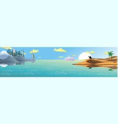 panorama - the arabian resort on the coast sand vector image